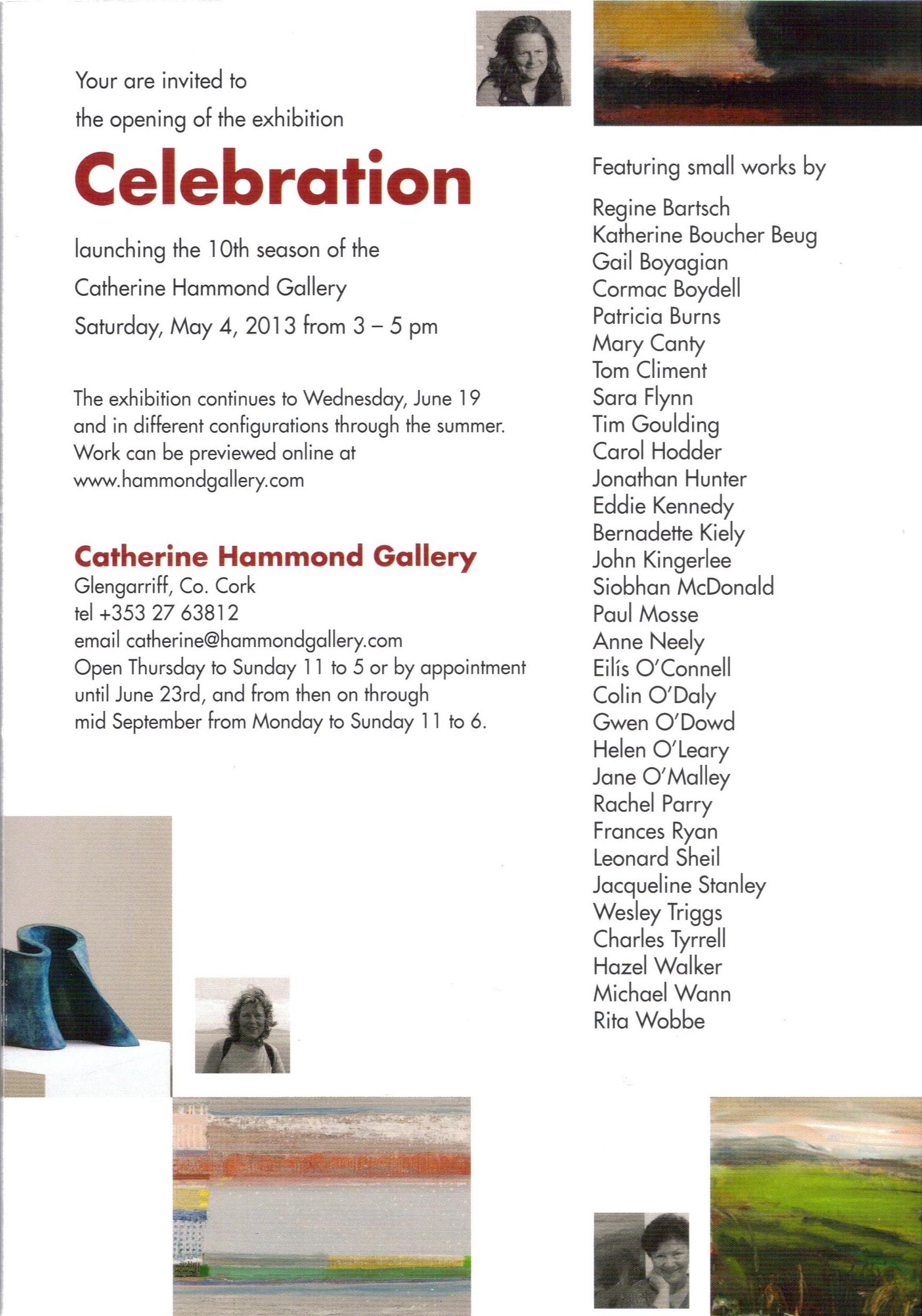 Invitation to Celebration at the Catherine Hammond Gallery